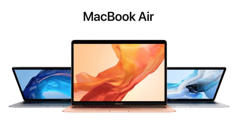 macbook air retina 2018 couleurs design Apple présente le MacBook Air Retina : nouveau design, Touch ID, USB C
