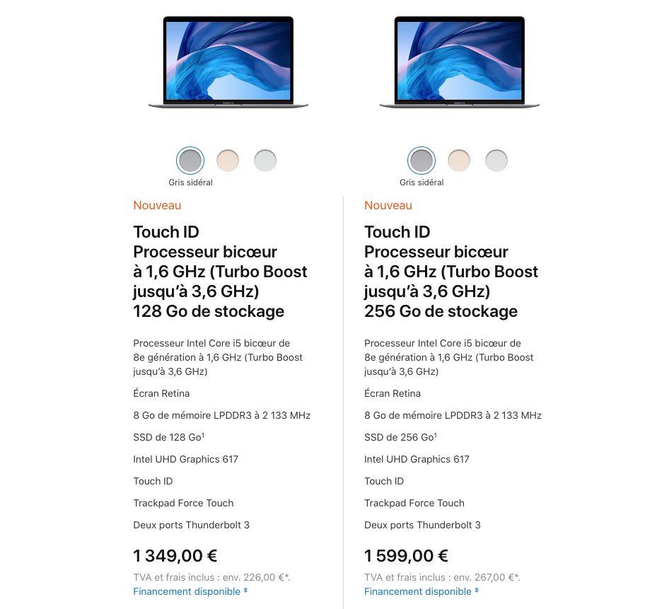macbook air retina 2018 prix Apple présente le MacBook Air Retina : nouveau design, Touch ID, USB C