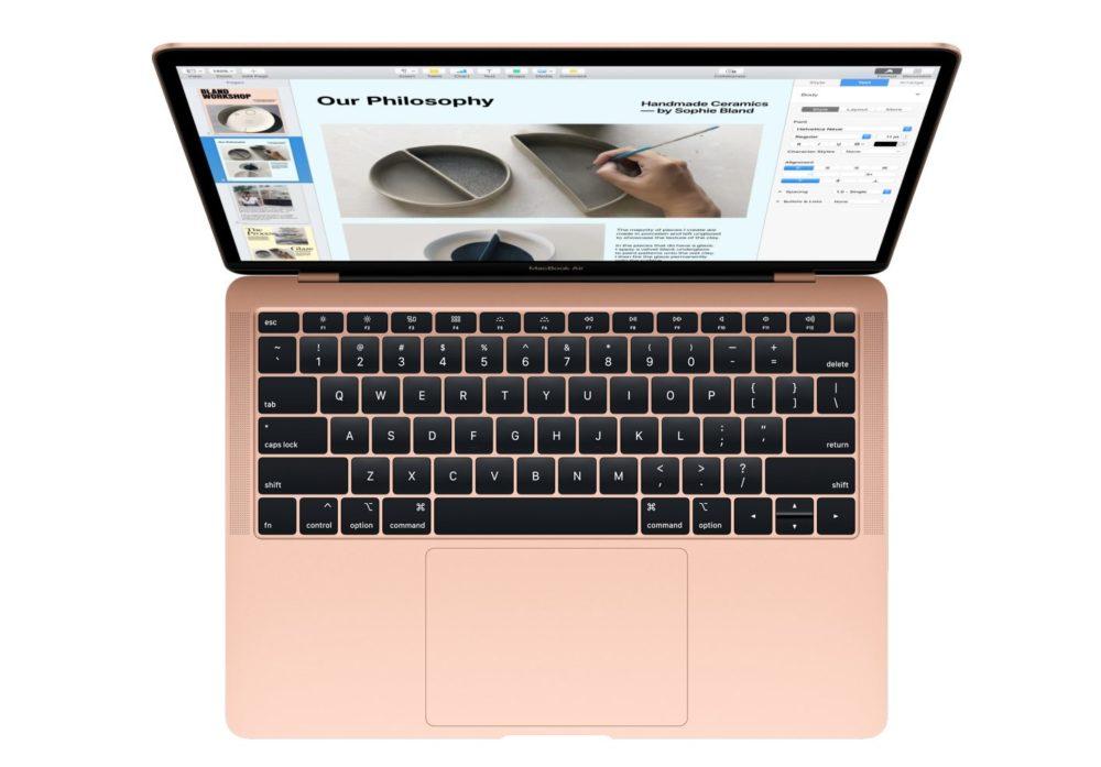 macbook air retina 2018 Apple présente le MacBook Air Retina : nouveau design, Touch ID, USB C