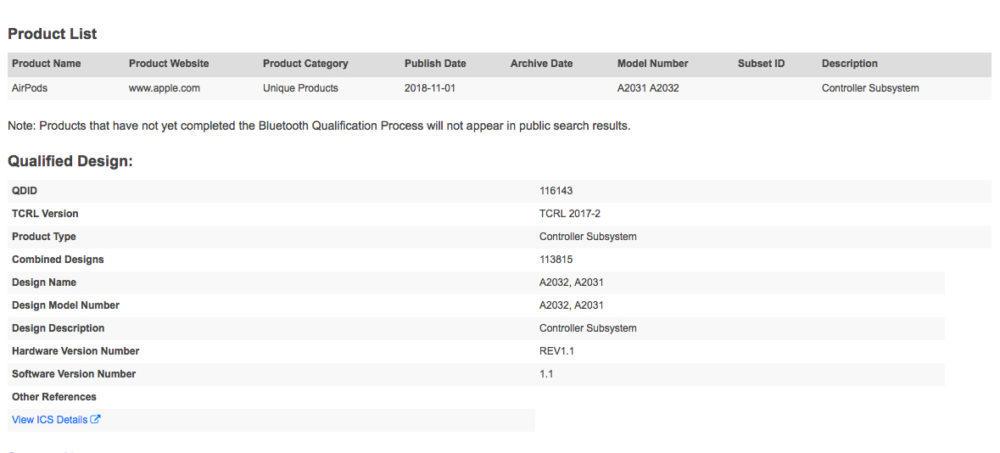 AIrPods Bluetooth SIG 1000x453 De nouveaux AirPods seraient en préparation, un indice nous vend la mèche