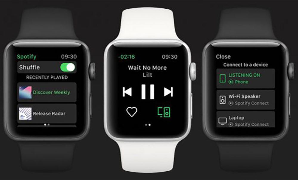 App Spotify Apple Watch Officiel 1000x603 Lapplication Spotify pour Apple Watch est disponible en version finale