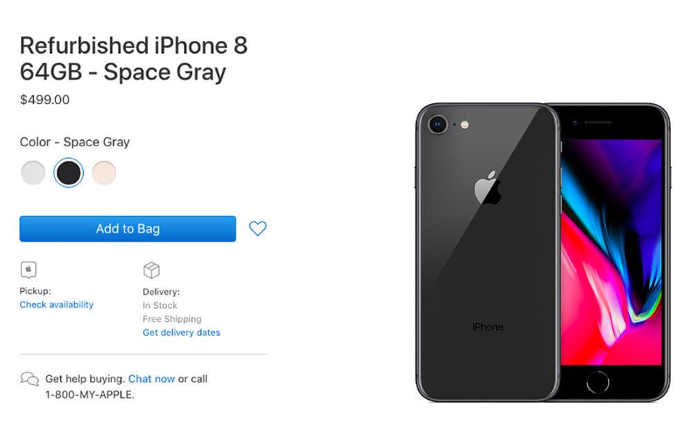 Apple iPhone 8 Refurbished 1000x645 Apple commence à vendre des iPhone 8 et 8 Plus reconditionnés aux États Unis