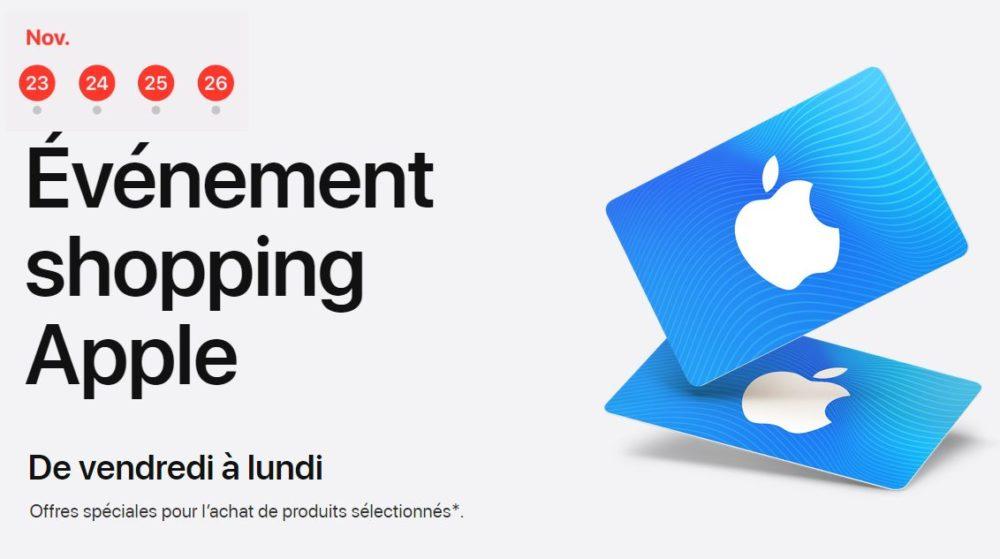Black Friday Apple Apple lance son offre Black Friday : des cartes cadeaux pour lachat de produits