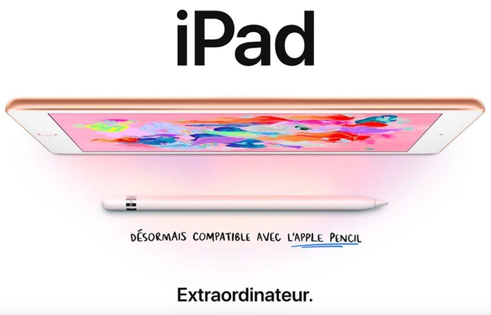 Nouvel iPad Mars 2018 1000x642 Apple commence à vendre les iPad 6ème génération reconditionnés aux États Unis