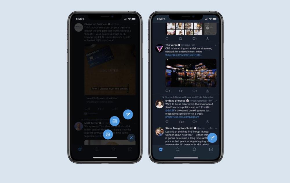 Twitter pour iOS ajoute un nouveau bouton de tweet flottant et dautres options supplémentaires