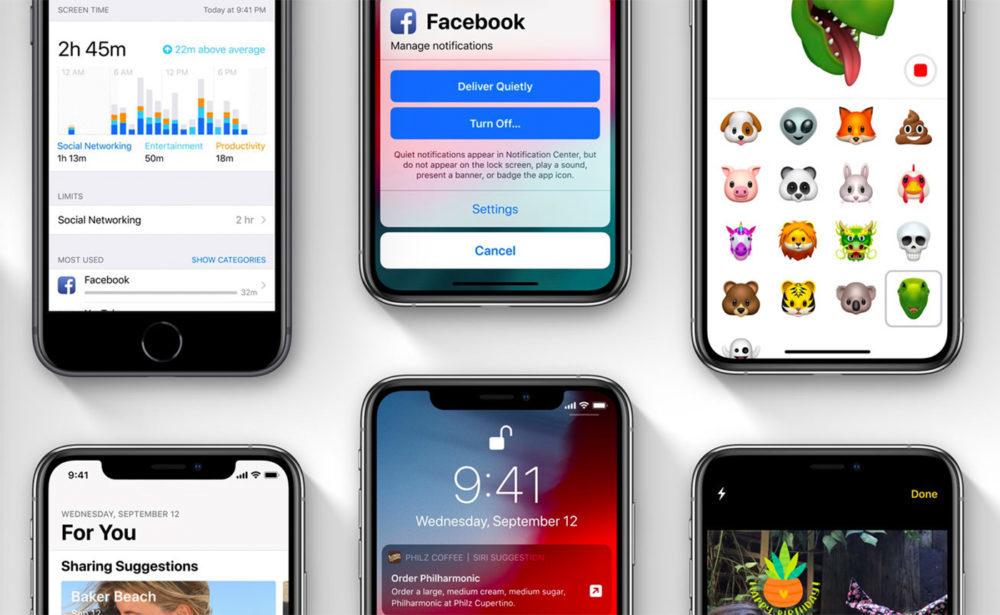 iOS 12 sur iPhone 1000x615 iOS 12.2 bêta 5 est disponible pour iPhone, iPad et iPod touch