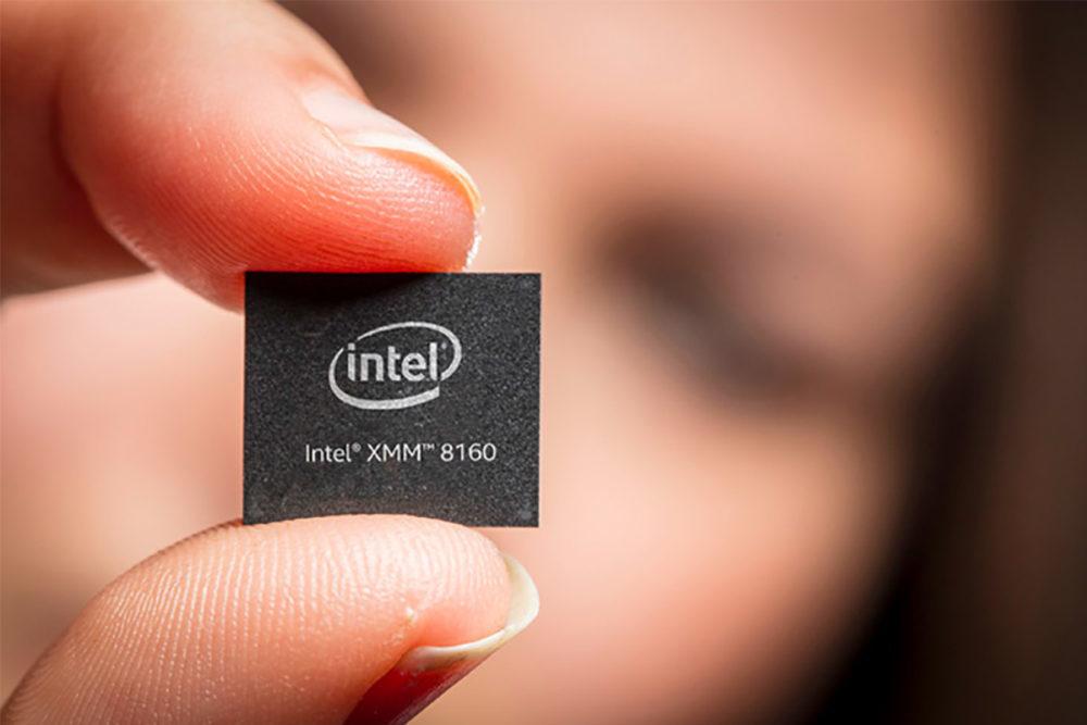 intel xmm 8160 modem 1 1000x667 Le premier modem 5G de Intel pourrait être testé (et utilisé ?) sur les iPhone de 2019