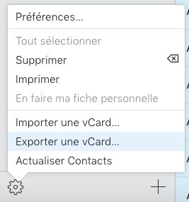 vcard exporter Comment exporter vos contacts iPhone vers un PC ou Mac