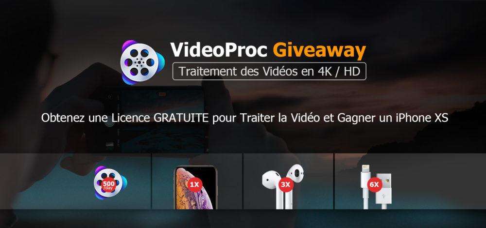 videoproc giveaway FR [Concours] Tentez de gagner un iPhone XS et des AirPods, et obtenez une licence gratuite de VideoProc pour traiter n'importe quelle vidéo