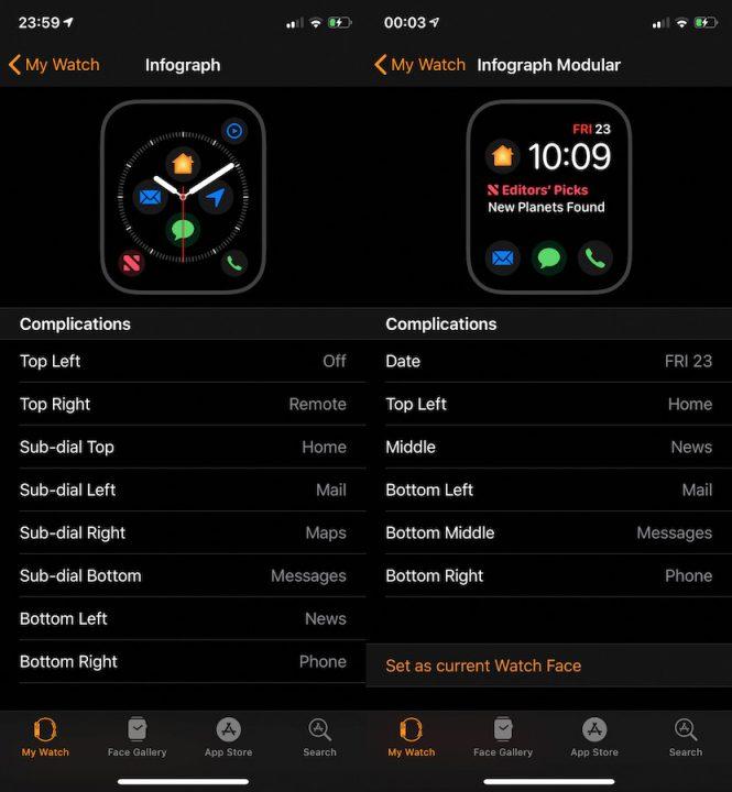 watchOS 5 1 1 nouvelles complications apple watch Bientôt 7 nouvelles complications sur le cadran Infograph Modulaire de lApple Watch Series 4 ?