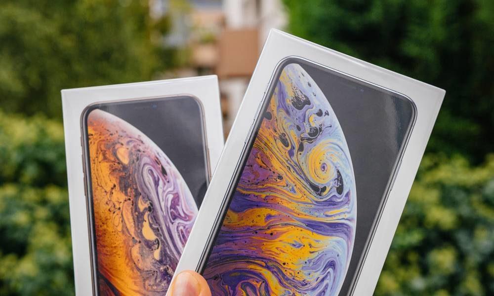 iPhone XS Max Boite 1000x600 Dupés par limage sur la boîte de liPhone XS, ils portent plainte contre Apple