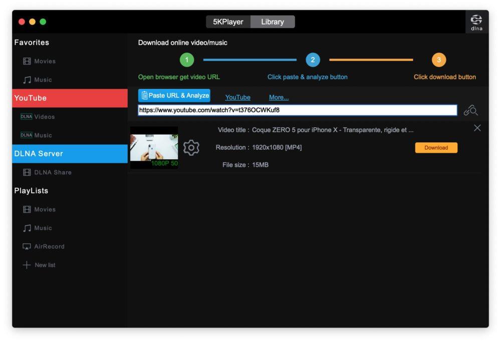 5kplayer youtube telecharger Comment lire et télécharger des vidéos 4K gratuitement (Windows et Mac)