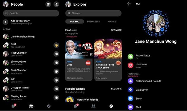 Messenger Dark Mode Le mode sombre de Messenger en test dans certains pays