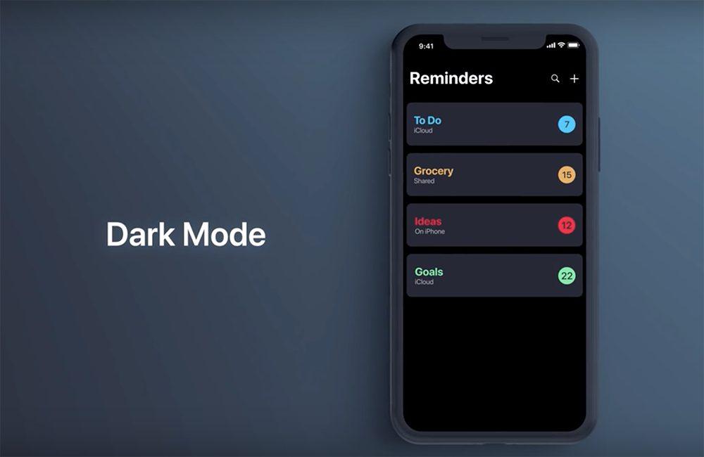 Mode Sombre iOS 13 Larrivée dun mode sombre sur iOS 13 se confirme