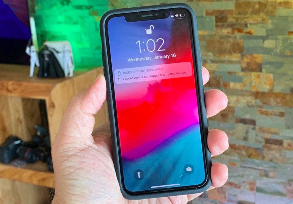 iPhone X Smart Battery Case 1000x698 La Smart Battery Case de l'iPhone XS sadapte à liPhone X, mais les fonctionnalités sont bloquées par iOS