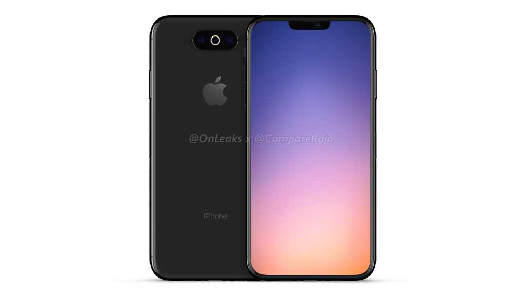iPhone de 2019 OnLeaks 1 iPhone de 2019 : batterie de 4000 mAh, recharge sans fil 15 W et écran de 120 Hz ?