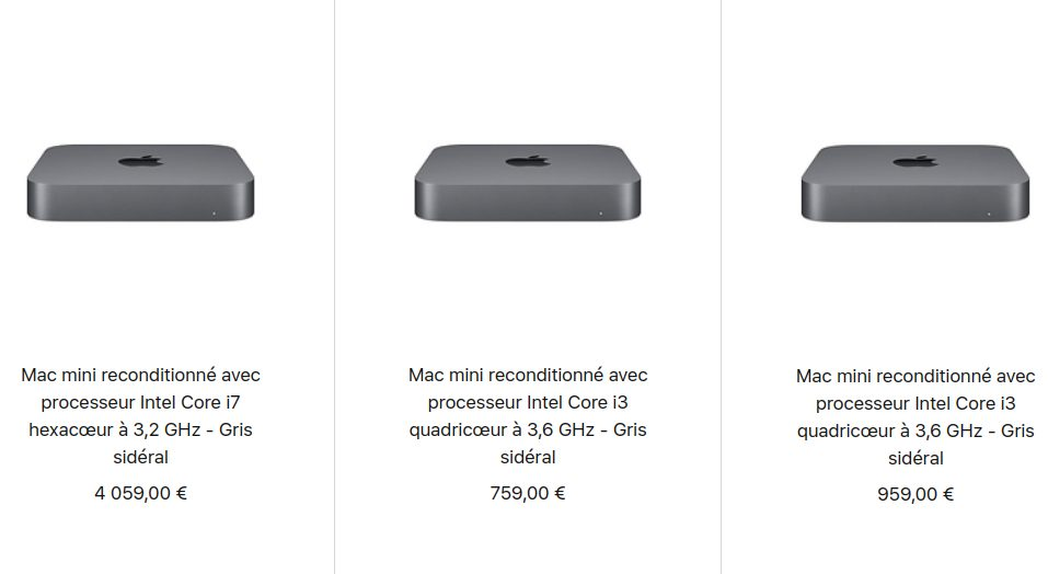 Mac mini 2018 Reconditionne Apple vend désormais des Mac mini et MacBook Air 2018 reconditionnés