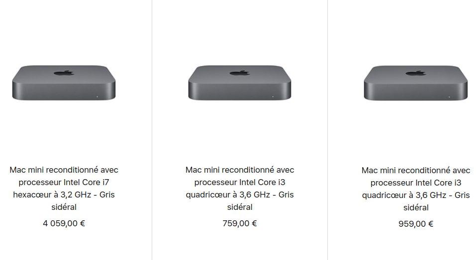 Mac mini 2018 Reconditionne Apple vend désormais des Mac mini et MacBook Air 2018 reconditionnés