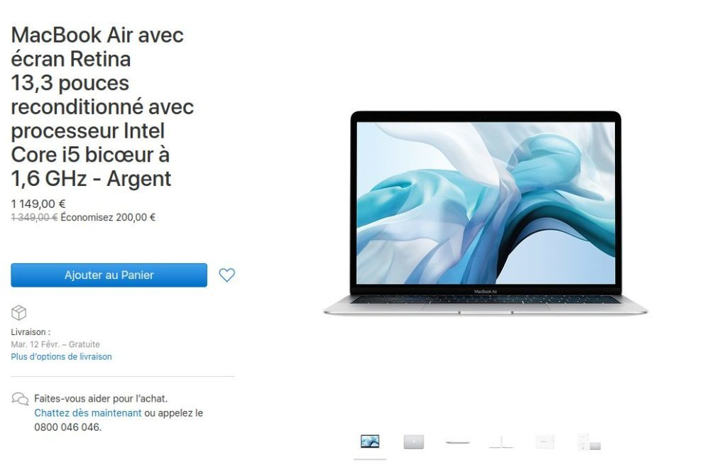 MacBook Air 2018 Reconditionne 1000x658 Apple vend désormais des Mac mini et MacBook Air 2018 reconditionnés