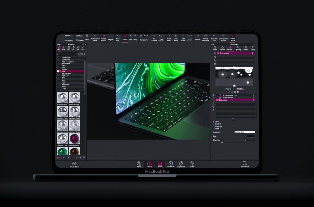 MacBook Pro Concept Workspace 1000x659 Un concept MacBook Pro avec un écran OLED bord à bord, Face ID et plus