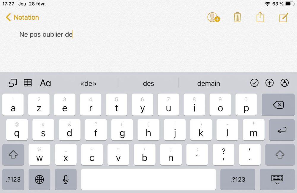 clavier ipad 1 Comment enlever le son du clavier sur iPhone et iPad