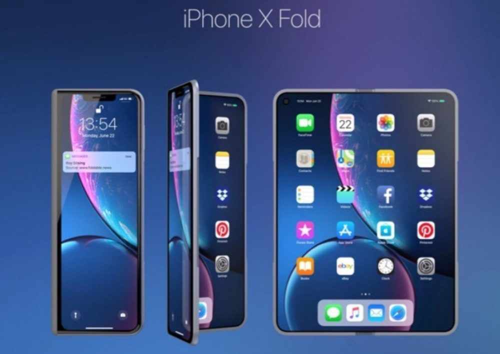 iPhone X Fold 1 1000x708 Un concept iPhone pliable à l'instar du Samsung Galaxy Fold