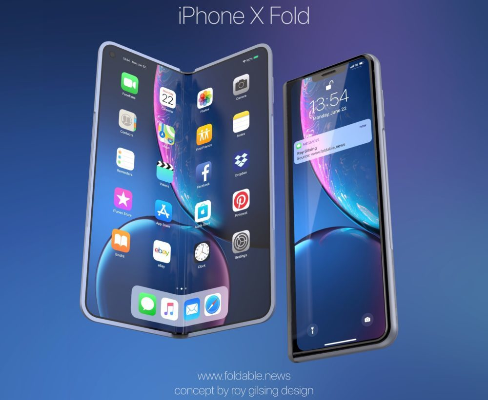 iPhone X Fold 3 1000x821 Un concept iPhone pliable à l'instar du Samsung Galaxy Fold