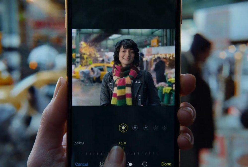 iPhone XS XR Ajuster Flou 1000x673 Apple lance une publicité pour vanter le contrôle de profondeur des iPhone XS et XR