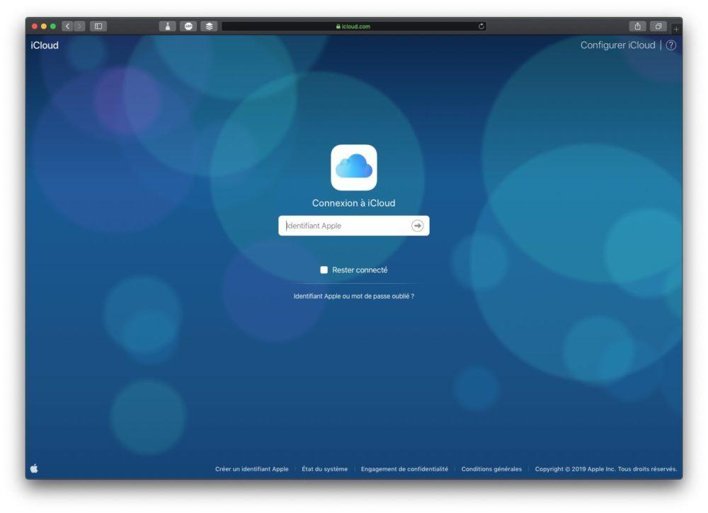 icloud connexion 1000x725 Comment rediriger ses e mails iCloud vers une autre adresse