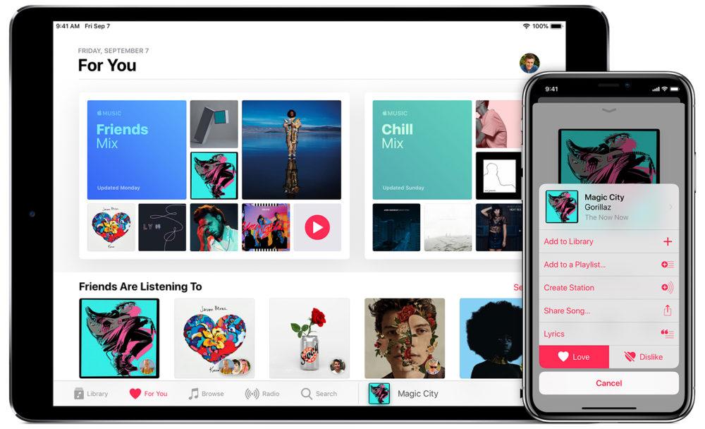 ipad iphone apple music gratuit Offrez un mois dabonnement Apple Music à un proche