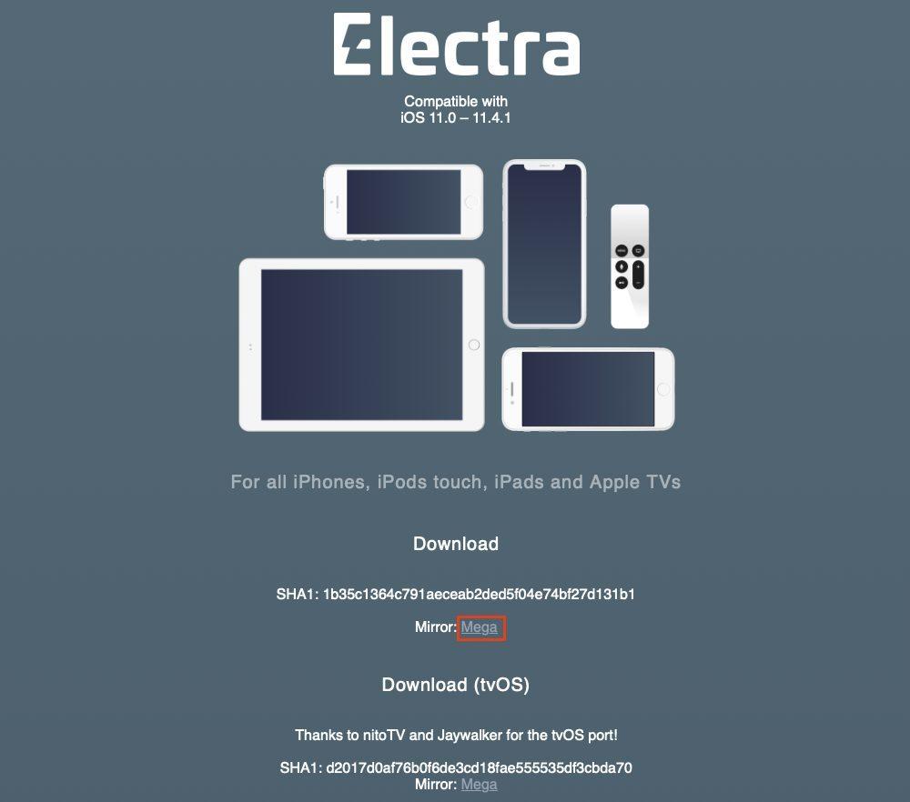 telecharger electra 114 1000x882 Comment jaibreak iOS 11.4 avec loutil Electra