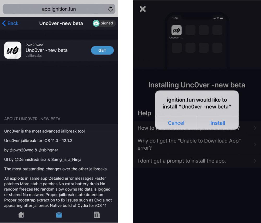 unc0ver jailbreak ios12 12 1 2 Tutoriel Jailbreak iOS 12   12.1.2 avec Unc0ver