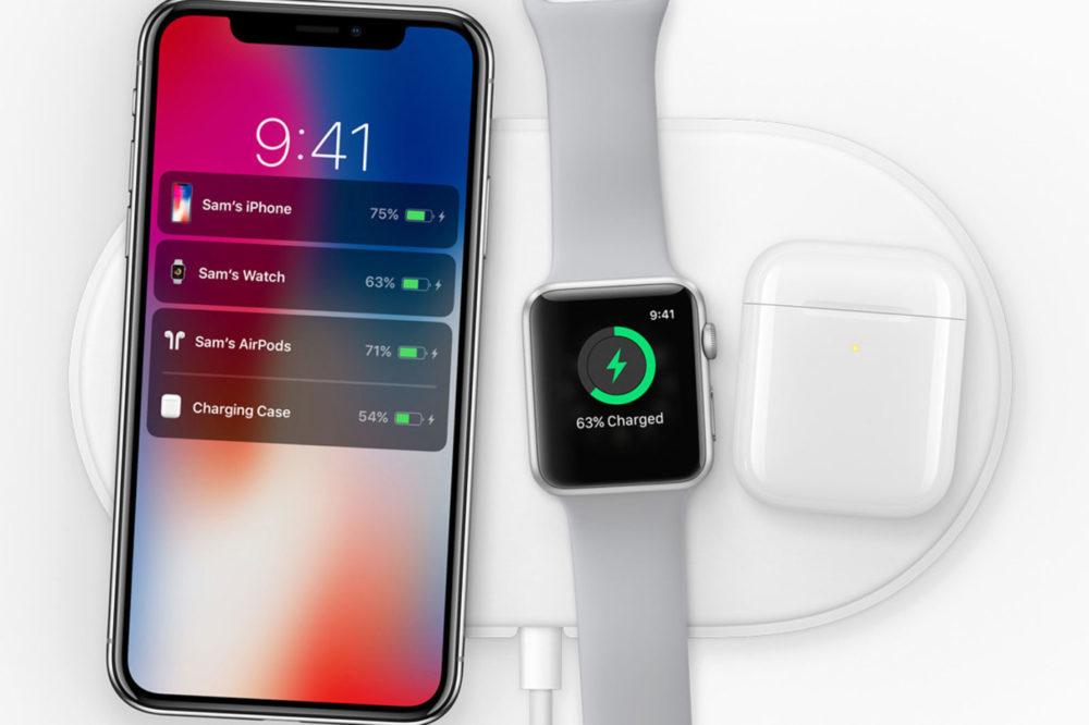 AirPower AirPods 2 iPhone X Apple Watch 1000x666 Apple décide dannuler la production de son chargeur sans fil AirPower