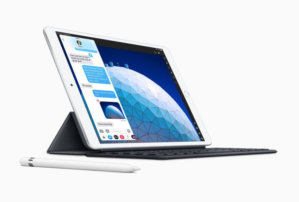 Nouvel iPad Air Smart Keyboard Apple Pencil 1000x676 Apple dévoile un iPad Air 10,5 pouces et un iPad mini 5 : A12 Bionic, Apple Pencil, prix et disponibilité