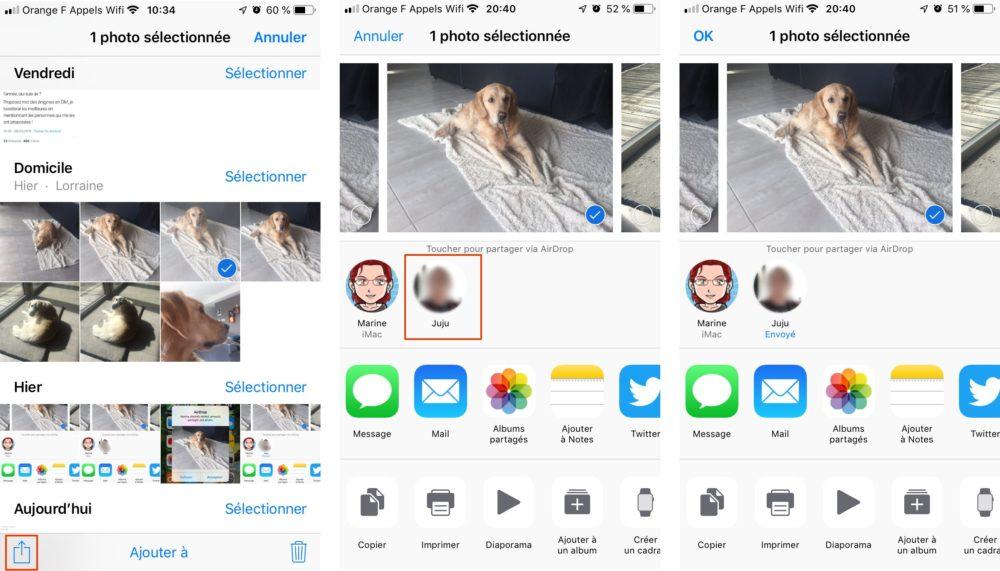 airdrop iphone Comment utiliser AirDrop sur un iPhone ou un Mac