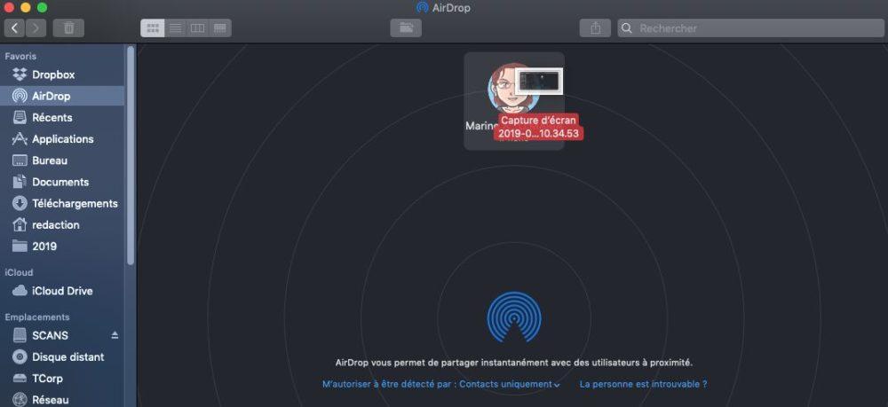 airdrop mac dragdrop Comment utiliser AirDrop sur un iPhone ou un Mac