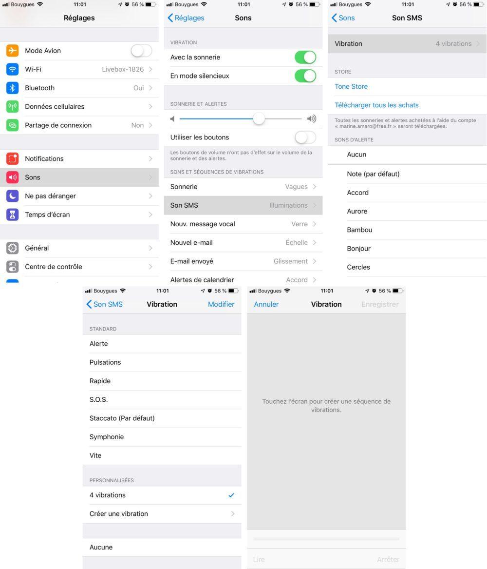 creer vibration iphone 1000x1167 15 trucs et astuces à savoir lorsque l'on possède un iPhone