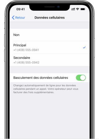 esim donnees cellulaires e1552930552149 Comment utiliser une double SIM avec une eSIM sur iPhone