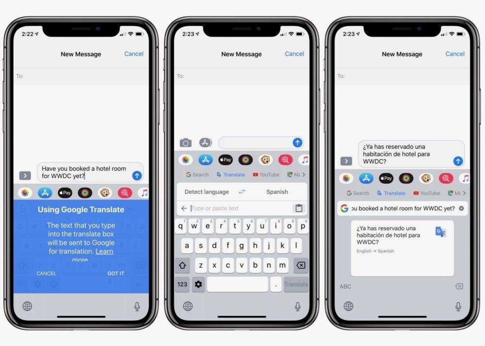 gboard traduction ios iphone 1000x714 Gbaord, le clavier de Google, apporte une fonctionnalité de traduction très pratique