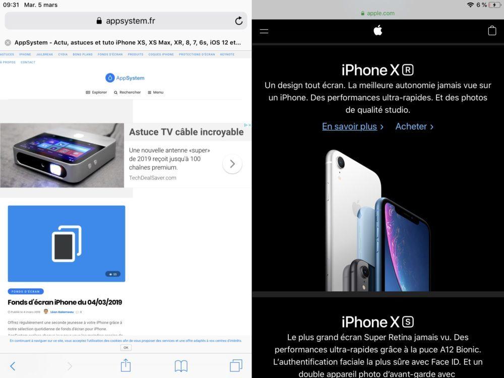 ipad safari split 1000x750 10 trucs et astuces à savoir lorsque lon possède un iPad