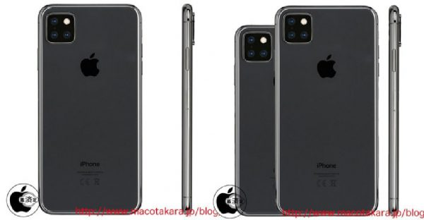 iphone 11 triple capteur photo LiPhone XI aurait un module photo carré avec 3 capteurs photo au dos