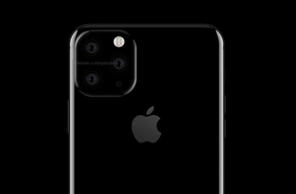 iphone XI 3 capteurs photo 1000x655 LiPhone XI aurait un module photo carré avec 3 capteurs photo au dos