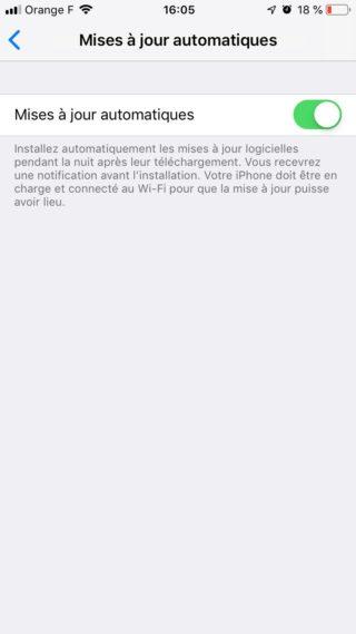 iphone activer maj auto e1552411970457 [GUIDE COMPLET] Comment effectuer la mise à jour iPhone et iOS