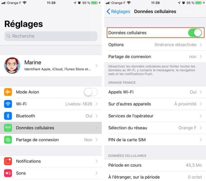 iphone donnees cellulaires 1 e1553096838129 Comment activer le partage de connexion sur votre iPhone ou iPad