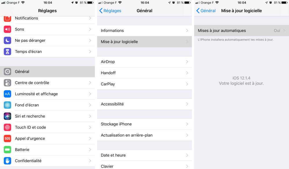 iphone maj auto 1000x584 [GUIDE COMPLET] Comment effectuer la mise à jour iPhone et iOS