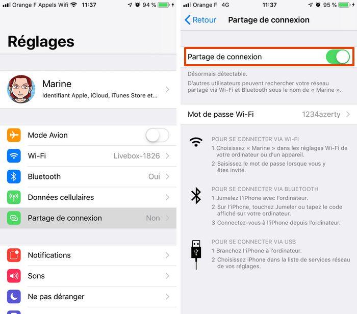 iphone partage connexion Comment activer le partage de connexion sur votre iPhone ou iPad