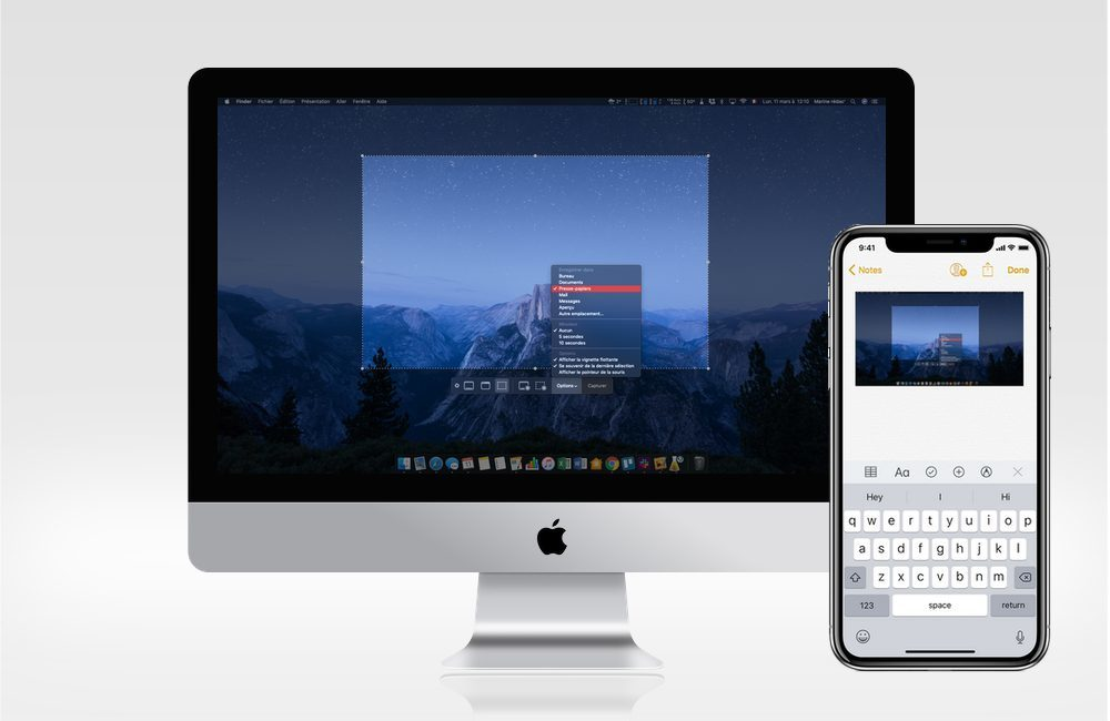 iphonex imac capture 1000x650 Comment faire une capture d'écran sur Mac vers iPhone