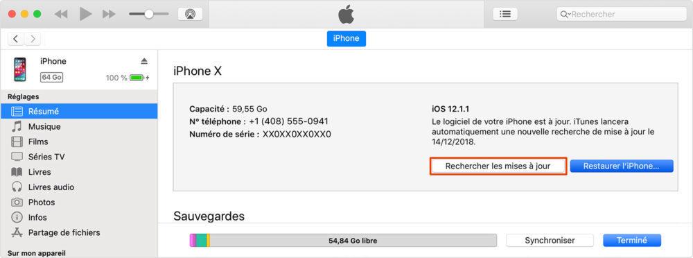 maj itunes rechercher 1000x372 [GUIDE COMPLET] Comment effectuer la mise à jour iPhone et iOS