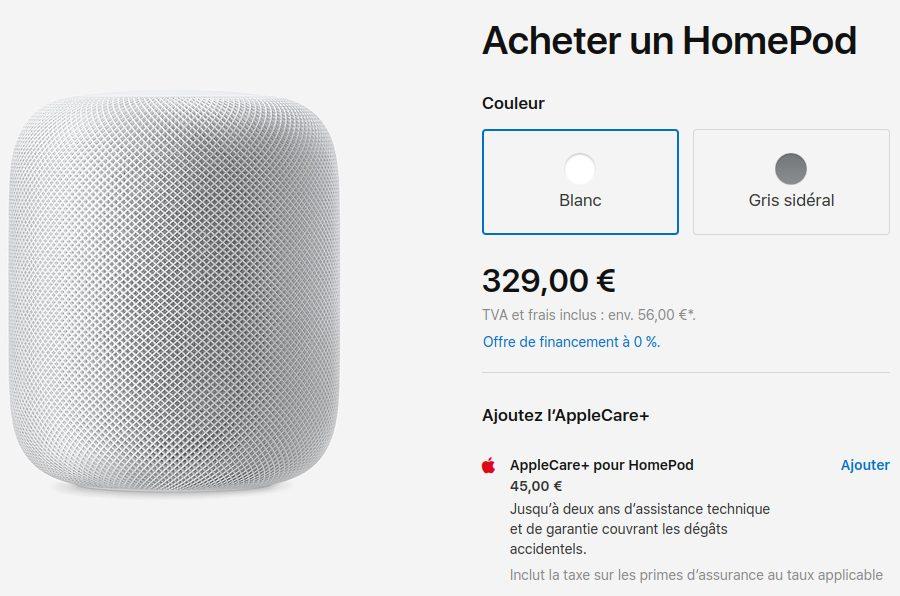 HomePod Prix Reduit Apple diminue le prix du HomePod dans le monde entier, 329 euros en France désormais