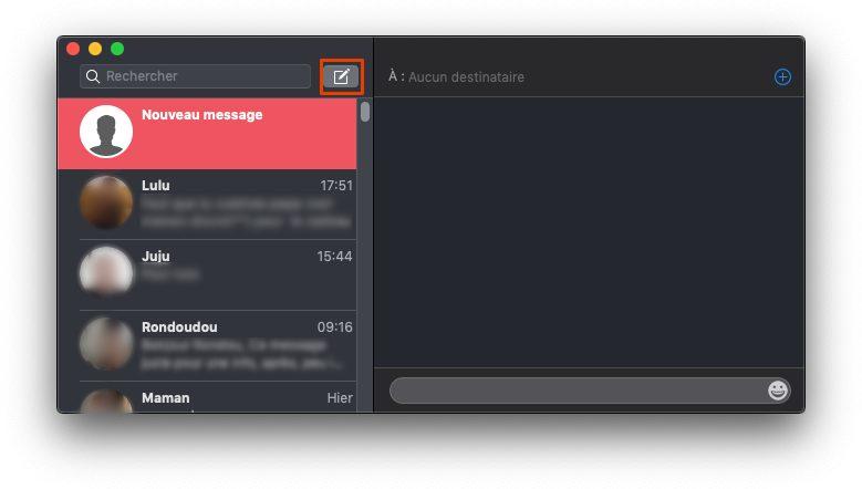 creer conversation messages Comment envoyer et recevoir des SMS et Messages sur Mac